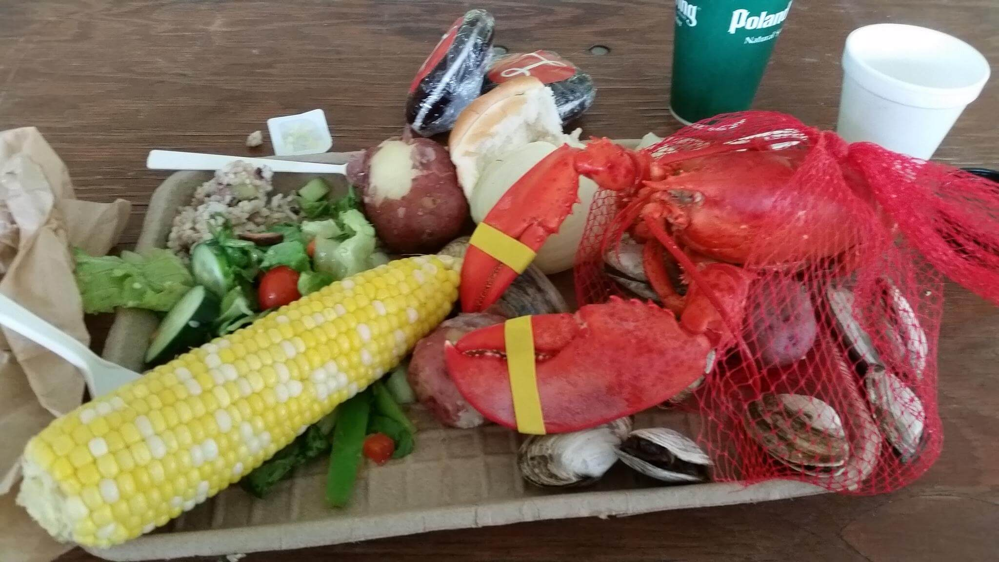 Lobster bake on Saturday night before the ride began