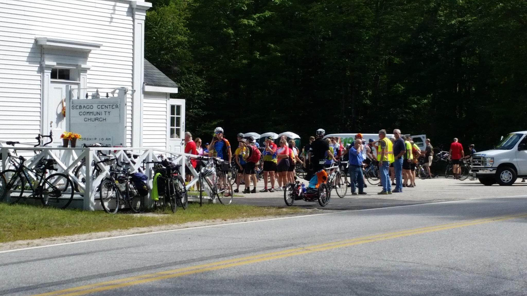 Lunch stop at the Sebago Center Community Church