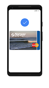 Image of phone and debit card