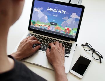 Banzai showing on a computer screen