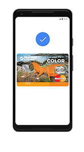 mobile device with NSB debit card