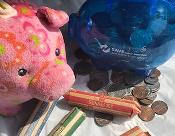 Piggy banks & coins