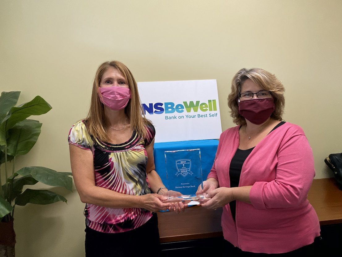 Two NSB employees hold 2020 Best Wellness Employer Award